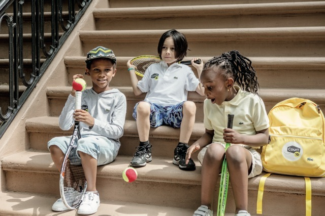 Court 16 kids in LACOSTE Court 16 apparel