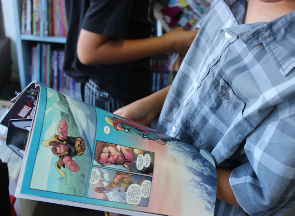 Reading Comics at the Comic Bug