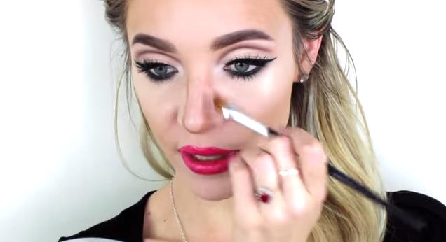 makeup-swollen-nose