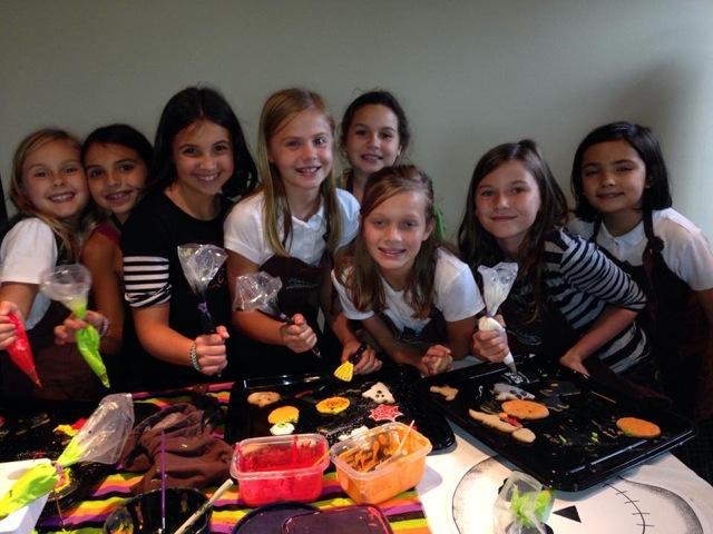Sprinkles and sweets girls making cookies
