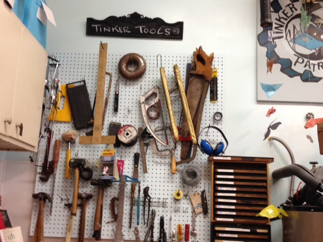 Tinker tools wall Tinkertopia