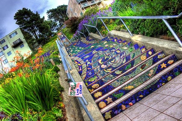 16th Avenue Tiled Steps