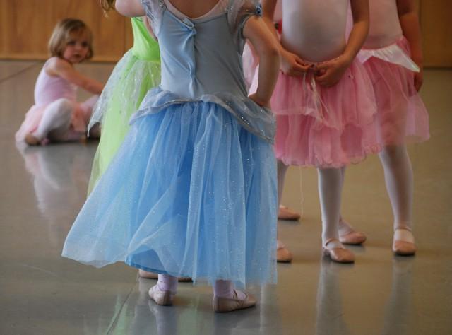 Dressed up ballerinas
