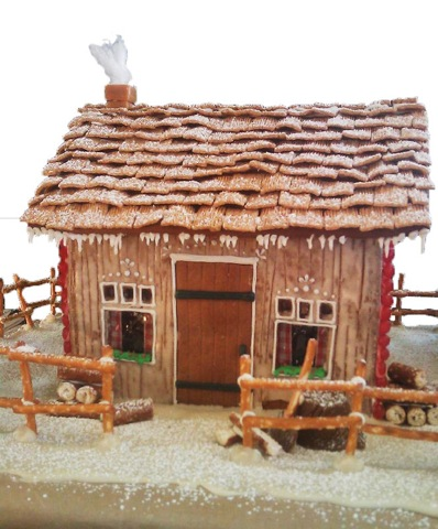 Eat Local Gingerbread House