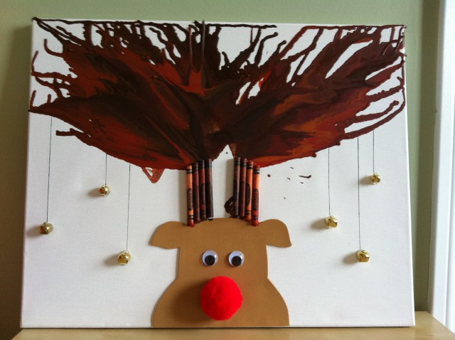 Melted Crayon Reindeer craft