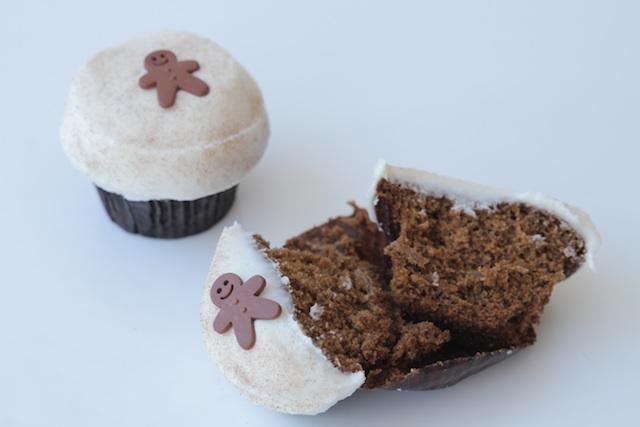 Sprinkles Gingerbread Cupcakes