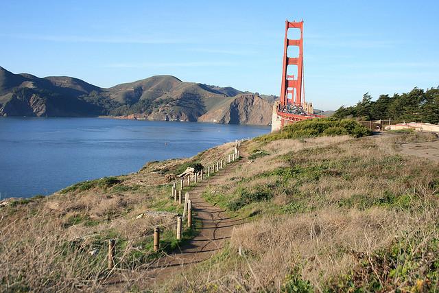 presidio trail golden gate bridge sf