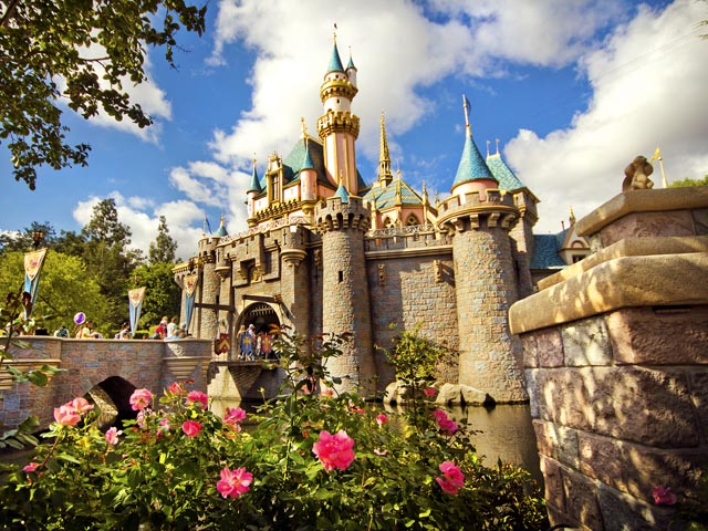 Disneyland-Sleeping-Beauty-Castle-Flowers