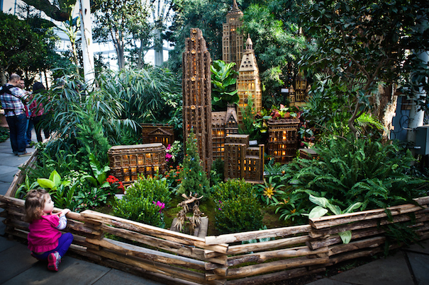 New York Botanical Garden: Tree lighting and Holiday Train Show