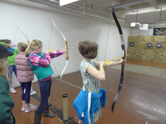 Archers Afield 3 Girls