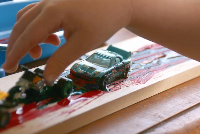 Racecar_Paint Gluesticks and Stones