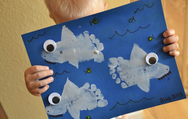 footprintsharks_gluedtomycrafts_aquaticart_national_redtricycle