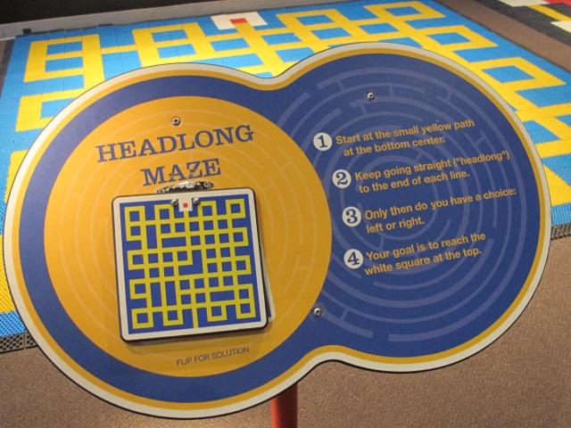Headlong maze