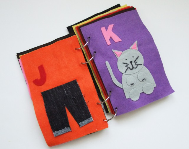 J and K Quiet Book Pages