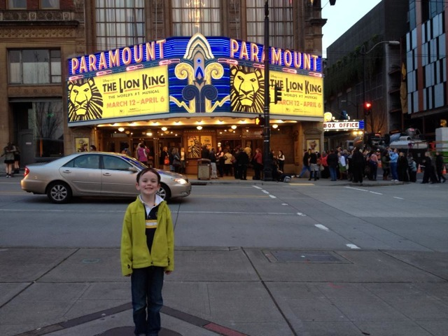 Paramount Theater outside Lion King