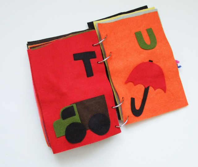 T and U Quiet Book Pages