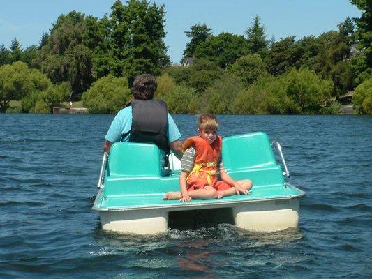green lake paddleboat