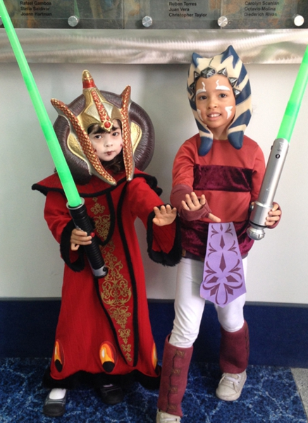 Star Wars kids ahshoka and amidala