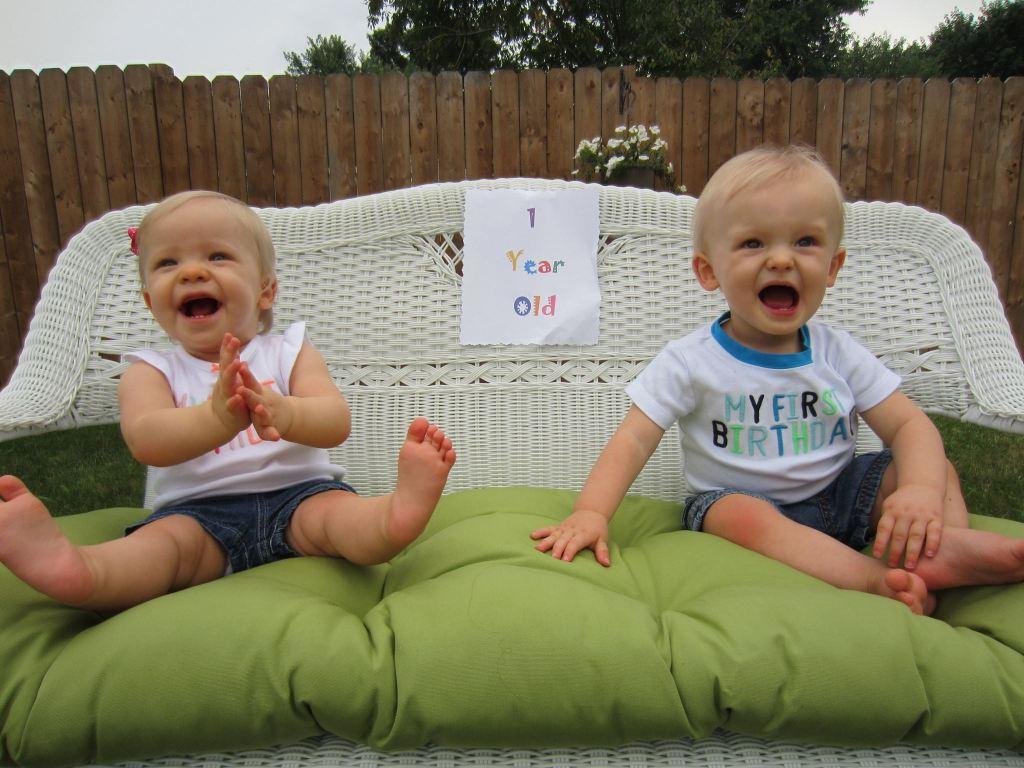 first birthday twins