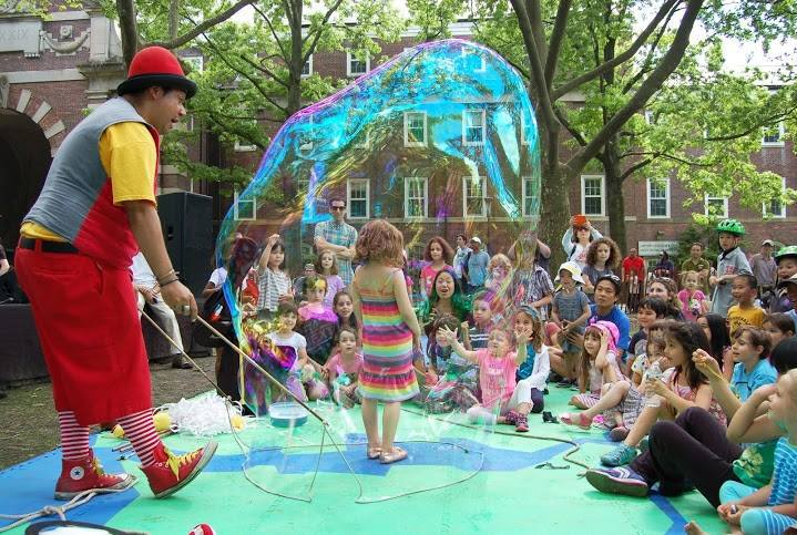 Join us Sunday, May 24th, 2015 from noon- 4pm for the 11th Annual Family Festival on Governors Island! The Family Festival will again kick off an exciting summer of programming on Governors Island. This year's festival will explore the intersection between the environment, conservation, sustainability, and art. Highlights include: puppet-making with Lisa Abbatomarco, hand-made Trout Crowns and Sharks Galore with NY Aquarium, story-making with Story Pirates, the Central Park Zoo Wildlife Theater's Butterfly Boogie, Arm of the Sea's Hook, Line, and Sinker performance, compost learning and animal care with Earth Matter, flower planting with the Trust for Governors Island, live music, face painting and tons of fun! All performances and activities are FREE to the public. The festival will take place in Nolan Park in the Island's historic district. This bucolic setting, with open grassy areas and tall shady trees, surrounded by charming 19th century cottages, is perfect for watching performances, making crafts, playing games, and picnicking!