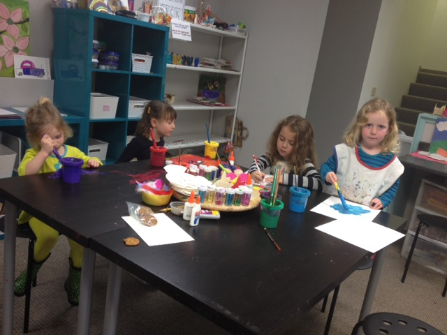 Girls at table art WSAN