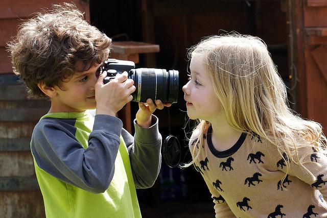 Kids taking photos