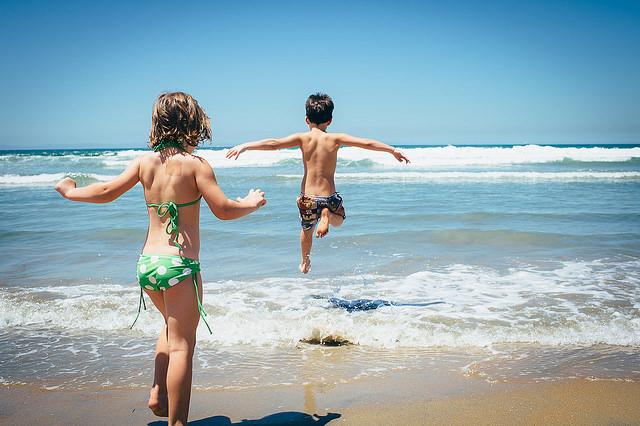 Splash at the beach
