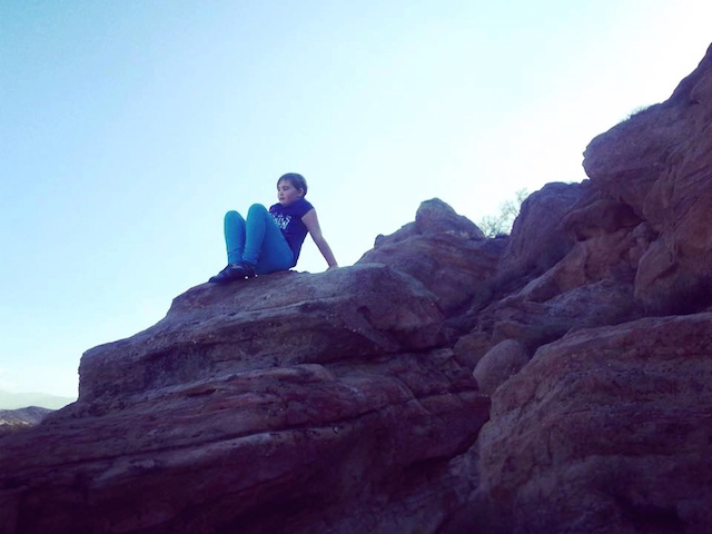 Vasquez Rocks - Girl on rock