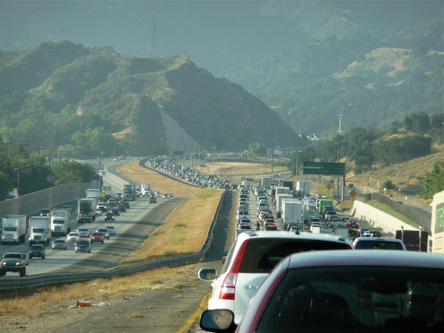 Los Angeles Freeway Traffic Newhall Pass