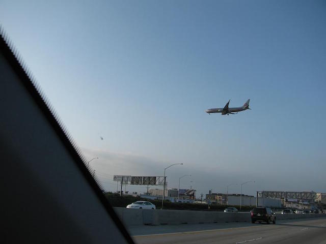405 Freeway LAX Plane Spotting - Cropped
