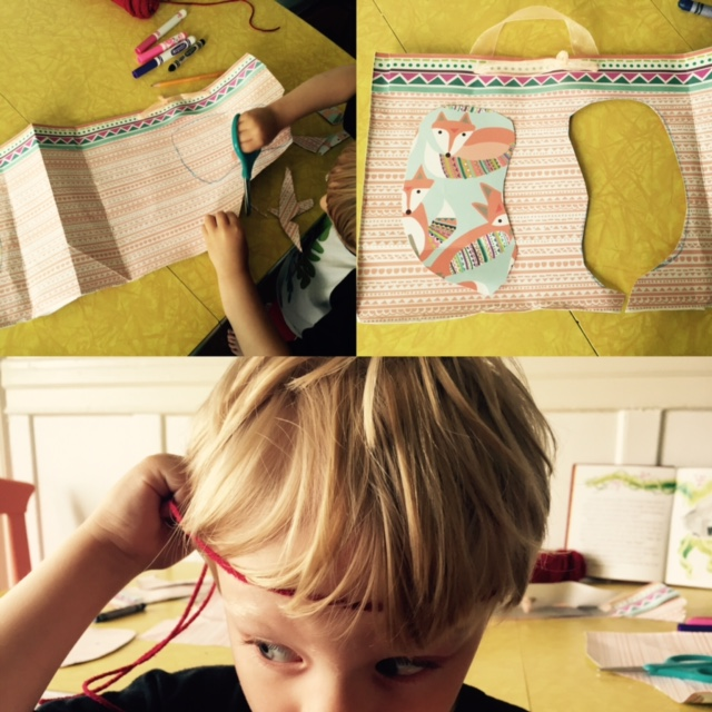 elephant craft collage