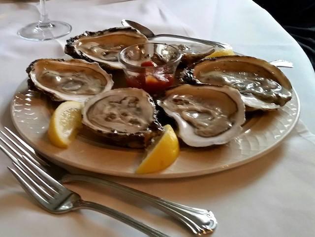 Oysters at The Rams Head Inn
