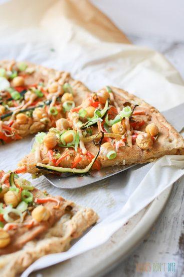 Thai Chickpea Veggie Pizza