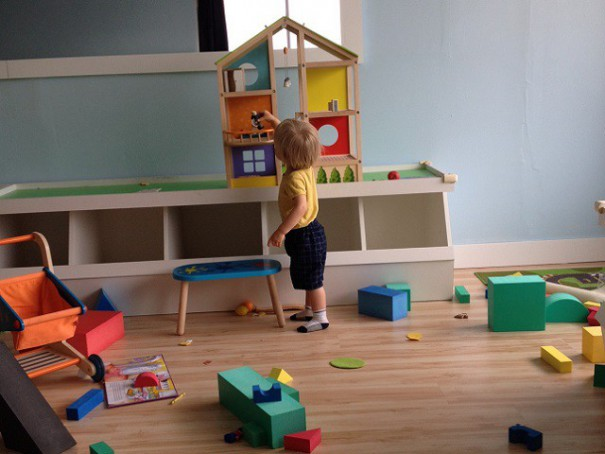 Playing with a doll house