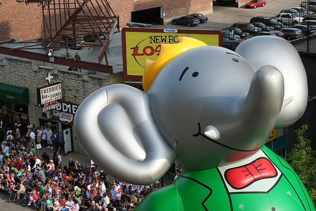 Babar float in parade
