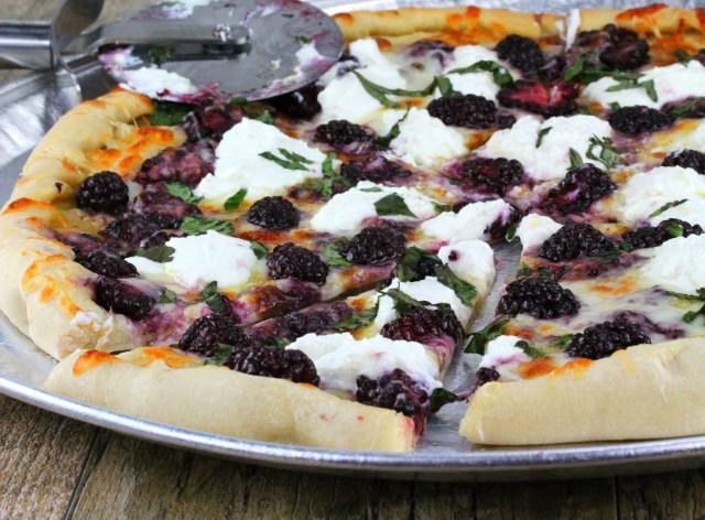 Blackberry Basil Ricotta Pizza 2
