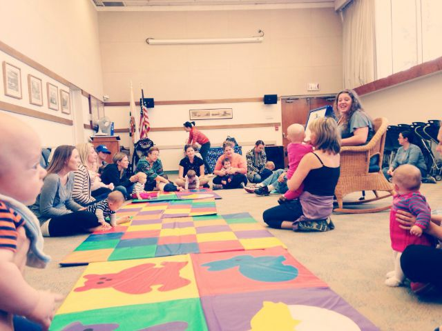 story time at library