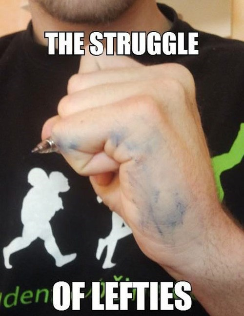 lefties meme left handed meme