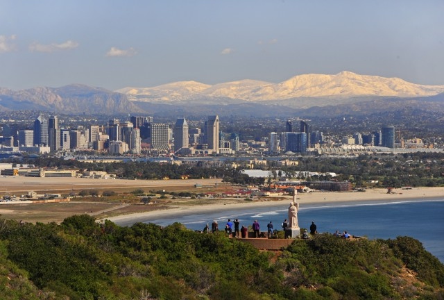 San Diego skyline from Cabrillo National Monument -Courtesy James Blank
