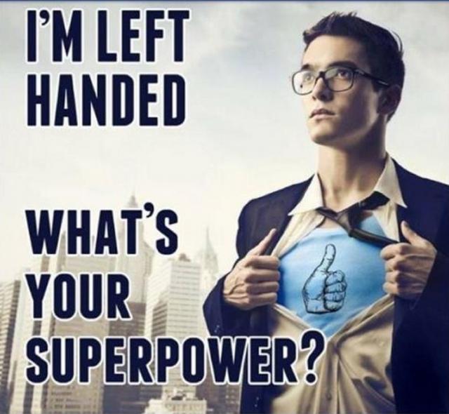 left handed meme