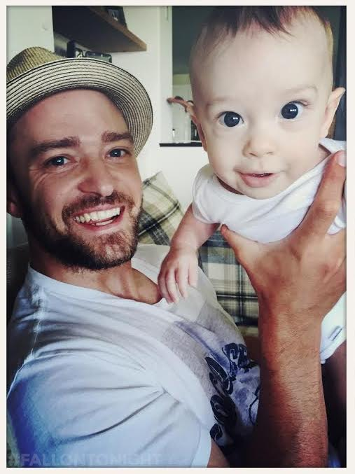 Justin Timberlake with Silas