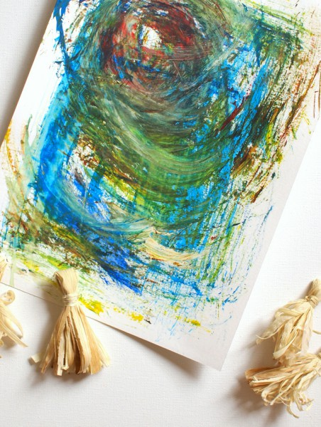 corn husk paintbrush