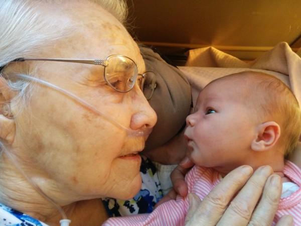 Great Grandma Meets Great Grand-Daughter