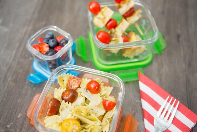 nut free basil pesto pasta v2 - The 52 New Foods Challenge