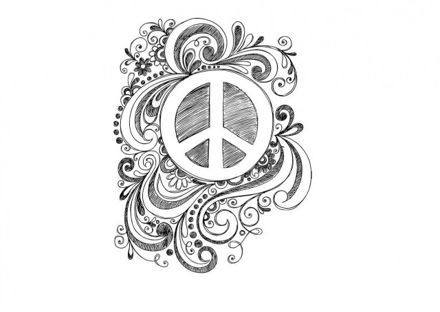 peace coloring page2