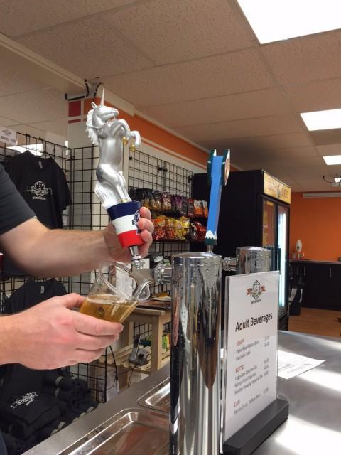 Portland Game Store Beer Tap