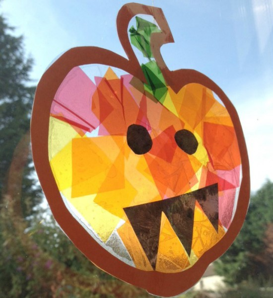 Stained-Glass-Pumpkin-Craft-for-Kids