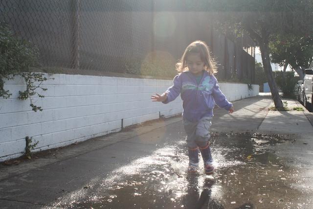 Toddler Activities Puddle Splash
