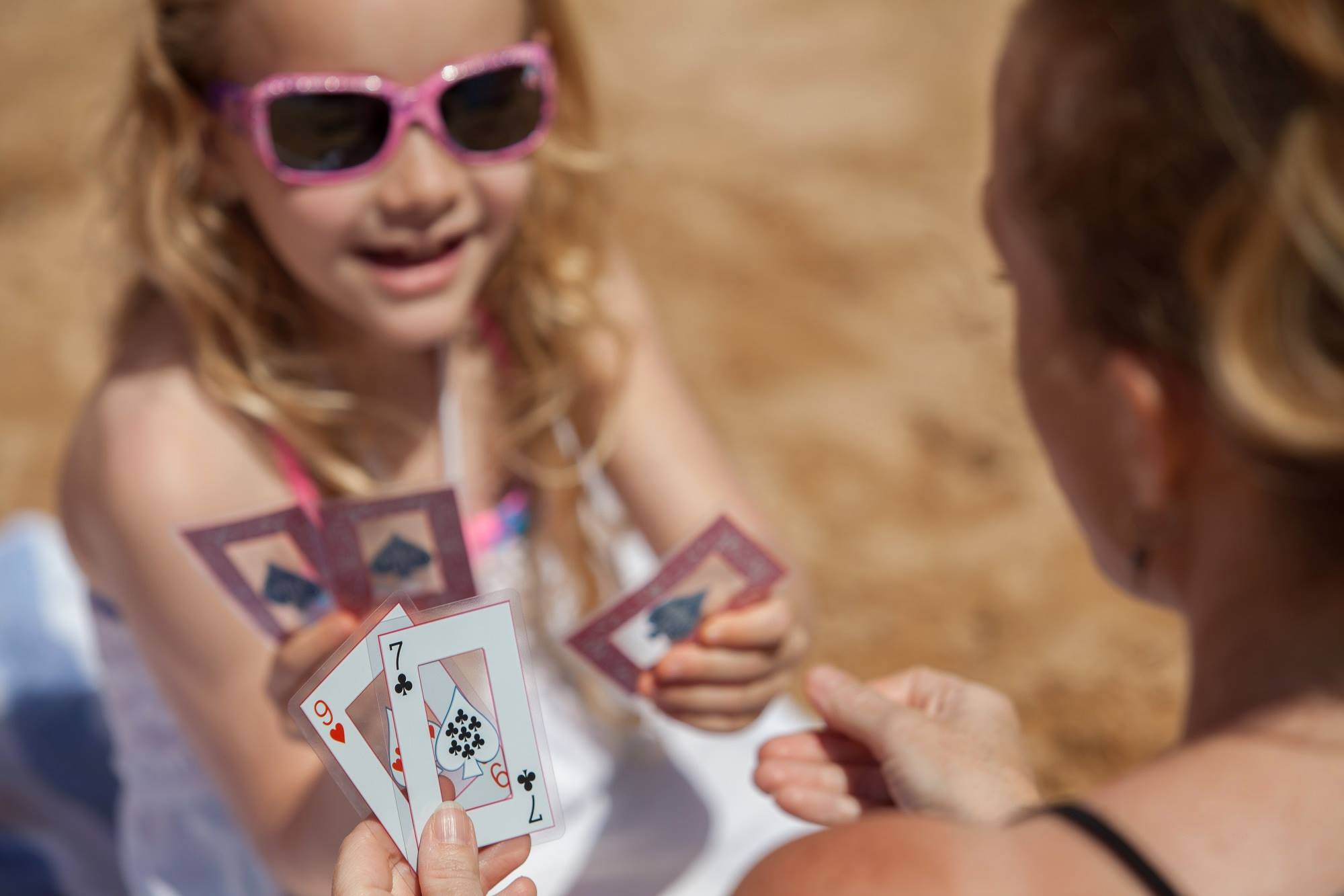 kid playing cards