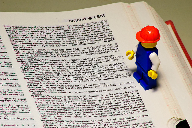dictionary lego guy